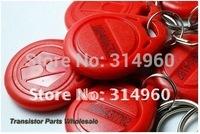 Free Shipping RFID Proximity ID Token Tag Key Ring 125Khz Red 500pcs/lot