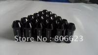 16 BLACK 12x1.5 LUG NUTS MAZDA MX-5 MIATA 4-LUG