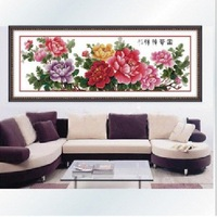 chinese style,cross-stitch ,Finished product ,A goods incense peony