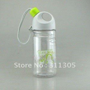 Garrafa de água de plástico 400ml , redondo com palha(China (Mainland))