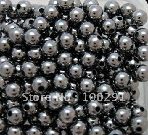 Free ship!!!10000piece/Lot 3mm gunmetal black round metal smooth spacer beads Jewelry Findings Accessories(China (Mainland))
