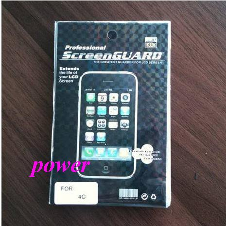 Free shipping High quality LCD Screen Protector protective film for iPhone 4 4G 50pcs/lot(China (Mainland))