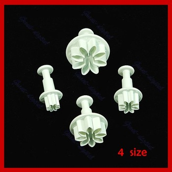 D19+4 x Flowers Fondant Plunger Cutter Cake Decorating Tool