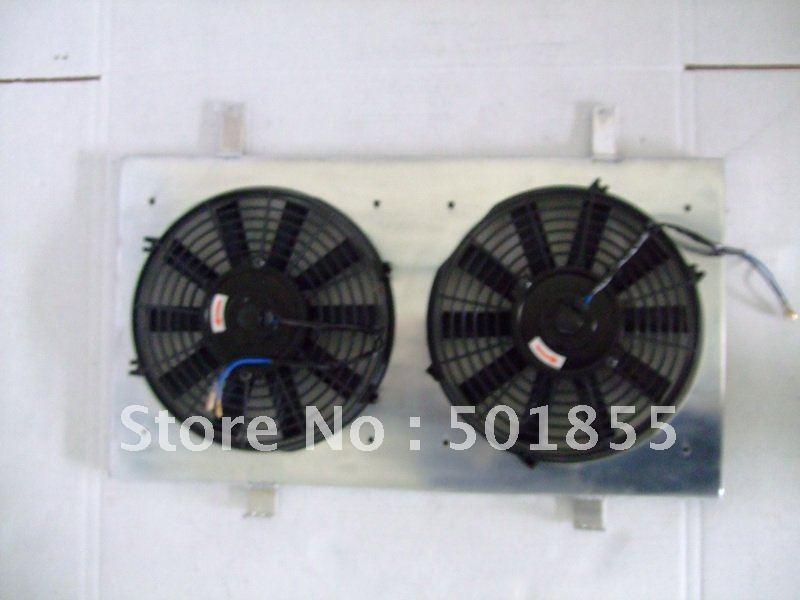 """aluminum radiator fan shroud silvia S14 SR20DET with 2*12"""" fan(China (Mainland))"""
