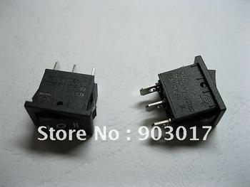 Rocker Switch ON/OFF/ON 3pin 6A 10A Black KCD1 10 pcs per lot hot sale