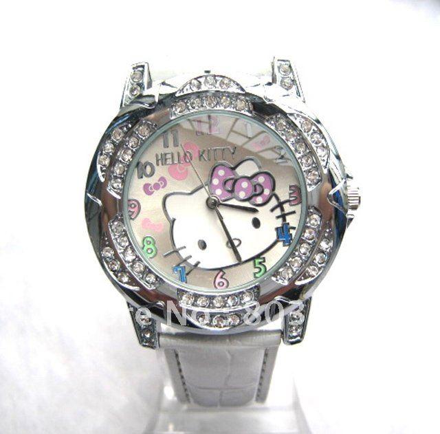 Aliexpress.com : Buy Free Shipping New Lovely Hello Kitty Watch ...