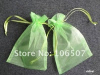 FREE SHIPPING 100PCS 10x15cm Olive Sheer Organza Wedding Favour Gift Bag Wholesale and retail
