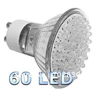 GU10 LED Light Bulbs Warm White 60 LED 250 Lumens x 10