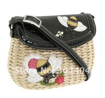Free shipping cute straw bag ladies' handbag