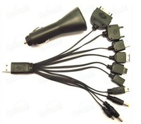 100pcs/lot*Cell Phone Car Charger 10 in 1 USB Mobile Phone Charger 3or5days fast shipping