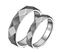 High quality Tungsten wedding band couple rings,tungsten rings,men 6mm,women 4mm
