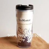 380ml double-layer advertising water bottle,Design for coffee,tea,Put it in your car or Office.Sell fast.