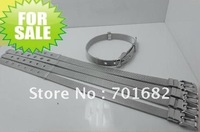 Wholesale  8mm wide 21cm length 10pcs Steel Wristband DIY Accessories can through 8mm slide letters or charms
