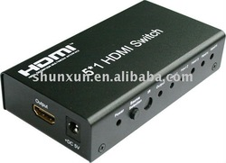 Mini 5x1 HDMI Switcher support 3D with remote controller(China (Mainland))
