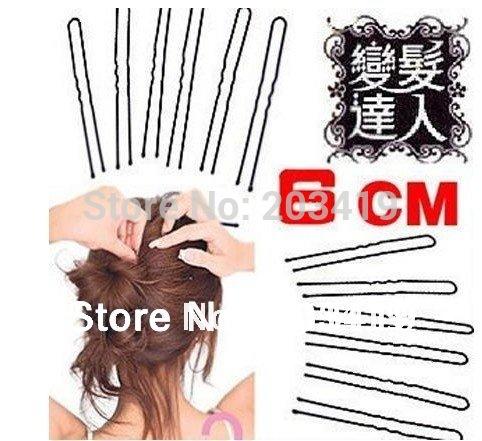 New Simple 60mm U-shaped Black Hair Pin Clip Hair Holder Grips Hair Clasp wholesale retail whcn(China (Mainland))