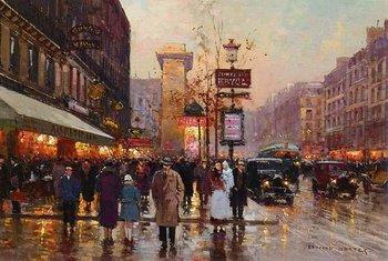 Boulevard Bonne Nouvelle, Porte St. Denis Edouard Leon Cortes 100% Hand Painted Oil Painting Repro Museum Quality Gift