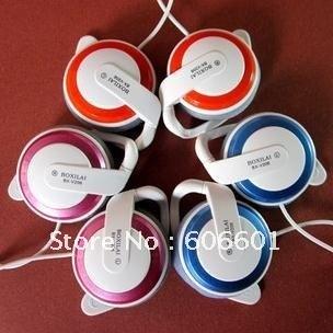 Free shipping personality headset,Hang ear in-ear headphones,fashion earphone,game earphone,microphone,sport earphone