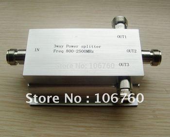 3 Way Microstrip Power Divider Power Splitter Signal Splitter 800~2500MHz for Signal Booster Repeater Amplifier