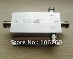 3 Way Microstrip Power Divider Power Splitter Signal Splitter 800~2500MHz for Signal Booster Repeater Amplifier(China (Mainland))