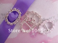 Wholesale and retail FREE SHIPPING 100PCS OVAL A-Grade Rhinestone Buckle Ribbon Slider Craft,wedding party Decor