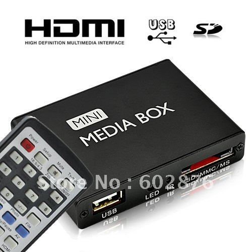 HD Mini Multi-Media Player with Remote Control, HDMI Output(China (Mainland))