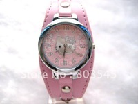 20PCS/Lot Fashion Hello kitty Watch Children watch 6 colors Women Watch ladies watch quartz watch wristwatches