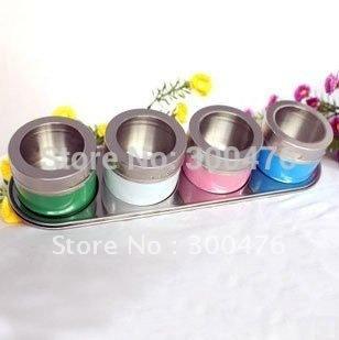 Retail 1pc New Colorful Castot Salt Pepper Condiments Case Bottle Scan Container