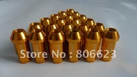 20 GOLD 12x1.5 WHEELS LUG NUTS LANCER ECLIPSE