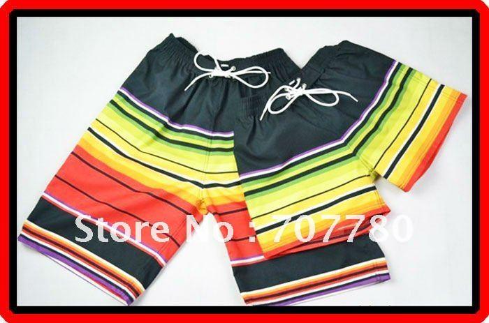 Casais Grátis Frete Grátis arco-íris listra Casual Praia calções Calças Calções desportivos Homens e Mulheres ( CTS015 ) !!(China (Mainland))