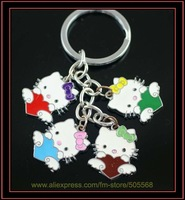 free shipping 10pcs/lot , hello kitty key chains , beautifull key chains, kitty key rings best for you