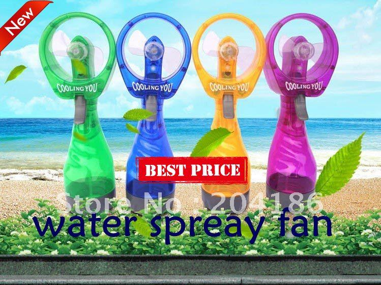Free shipping! Wholesale - 5Pcs New Summer Portable hand-held Water ice water mini spray fan(China (Mainland))