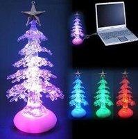 wholesale,Free shipping,USB Christmas tree lights Colorful