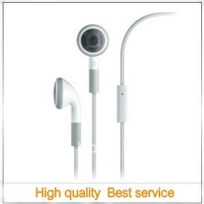 Stereo 3.5mm Earphone with Remote & MIC for iPhone 4,for iPhone 3G/3GS,for iPad,for iPod series with Packing- 100 pcs,FS by DHL(China (Mainland))