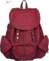 Wholesale/retail canvas bags, school bags, Korean leisure backpack, canvas shoulder bag, ladies bag, 8 colors, free shipping