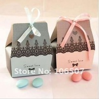 2011 NEW Quality Guarantee! FREE SHIPPING-50PCS pink Favour Gift Box Wedding Supplies-Wholesale and retail