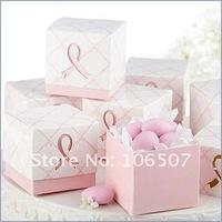 200PCS PINK 2pcs Favour Gift Box candy Favor boxes wedding party decorations