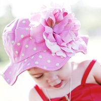 baby hat / INFANT big  flower cap  /children hat six style  wholesale,CBRL promotion sell +EMS/DHL free shipping