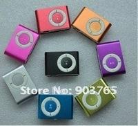 Wholesale-Free Shipping mini clip MP3, MP3 music player,521MB, 2GB, 4GB,digital music player  portable mp3 player 50pcs/lot