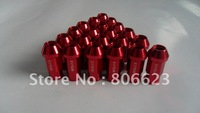 NEW 20 RED 12x1.5 LUG NUTS ALL HYUNDAI 5-LUG