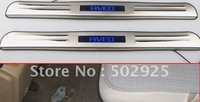 Free shipping 2010-2013 CHEVROLET AVEO Stainless Steel Scuff Plate with LED light (DHL EMS UPS CPAM)