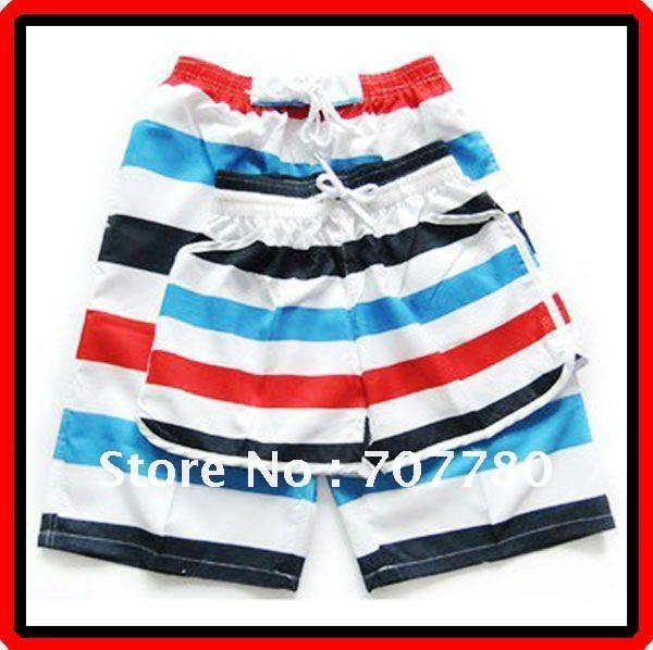 Casais frete grátis arco-íris listra Casual Praia calções Calças Calções desportivos Homens e Mulheres ( CTS016 ) !!(China (Mainland))