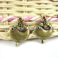 free shipping 42 pcs/lot,wholesale fashion lovely  charms antique bronze charms jewelry charms jewelry accessories