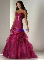 Wholesale Organza off-shoulder  wedding dress long train free shipping