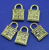 free shipping 38 pcs/lot,wholesale fashion lovely bag charms antique gold charms jewelry charms jewelry accessories