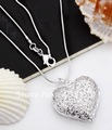 Free Shipping 925 Sterling Silver Jewelry Heart Necklace Brand New ,925 necklace