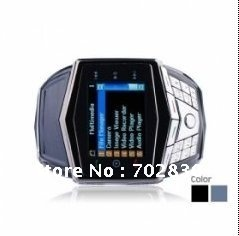 GD910 Ultra Thin Quad Band Mp3 / Mp4 Wrist Watch With Keypad Bluetooth Cell Phone