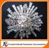free shipping high quality shiny flower rhinestone brooch