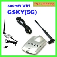 54Mbps USB WiFi LAN Adapter GSKY wireless networking card High Power 500mW 802.11b/g Free Shipping