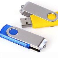 Custom LOGO Printing Swivel USB Flash Drive,Revolve USB Flash Memory,Pen Drive Stick 2GB 4GB 8GB 16GB,USB Gift, Free Shipping