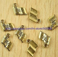 free shipping 137 pcs/lot,wholesale fashion lovely book charms antique gold charms jewelry charms jewelry accessories